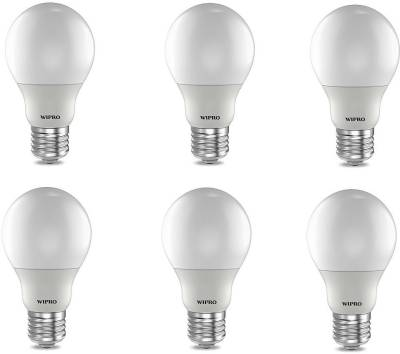 Wipro 12W E27 LED Bulb (Cool Day light, Pack Of 6) Image