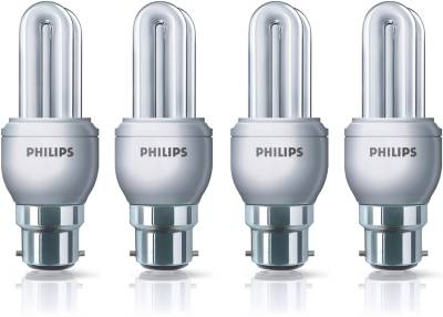 Philips Genie 11 Watt CFL Bulb (White,Pack of 4) Image
