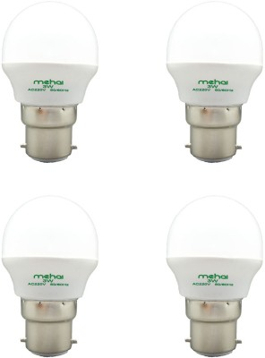 Mehai-Super-Bright-3W-LED-Bulbs-(White,-Pack-of-4)