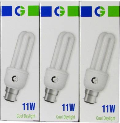 Greaves-11-W-2U-CFL-Bulb-(Cool-Daylight,-Pack-of-2)