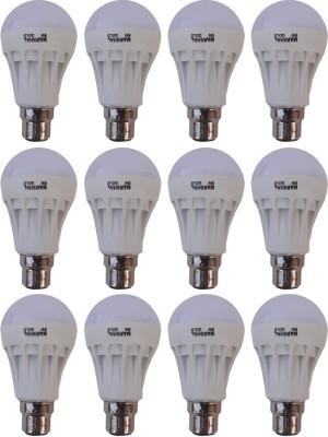 Gold-5W-B22-LED-Bulb-(White,-Set-of-12)