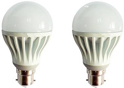 Gold-5W-Plastic-Body-Warm-White-LED-Bulb-(Pack-Of-2)