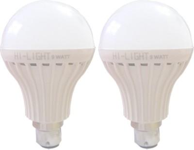 Hi-Light-9W-B22-LED-Bulb-(White,-Set-of-2)