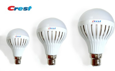 Crest-3W,-5W,-7W-B22-LED-Light-Bulb-(Set-Of-3)