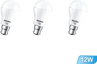 Micolux-Lighting-12W-B22-White-Led-Bulb-(Set-Of-3)