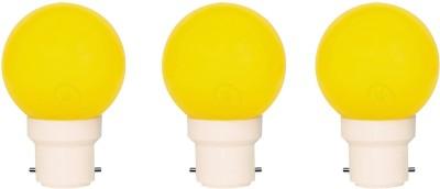 Apical-0.5W-B22-LED-Bulb-(Yellow,-Set-of-3)