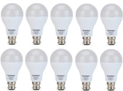 Wipro 12 W Standard B22 LED Bulb(White, Pack of 10) at flipkart