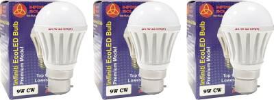 Infiniti-9W-B22-LED-Bulb-(Cool-White,-Pack-of-3)