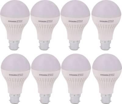 Swarn-7W-B22-600L-LED-Bulb-(White,-Pack-Of-8)