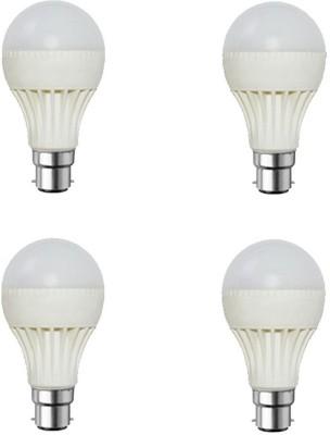 Digilight-9W-Plastic-Body-White-LED-Bulb-(Pack-Of-4)