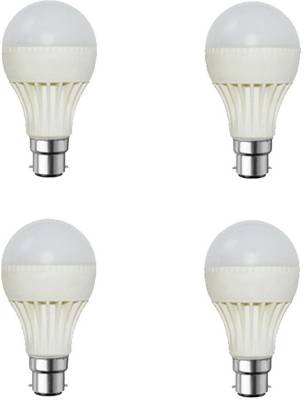 9W-Plastic-Body-White-LED-Bulb-(Pack-Of-4)