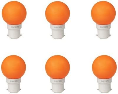 Pyrotech-0.5W-LED-Bulb-(Orange,-Pack-of-6)