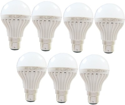 Hi-Light-5W-B22-LED-Bulb-(White,-Set-of-7)