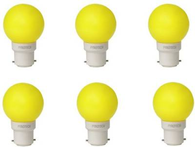 0.5W-LED-Bulb-(Yellow,-Pack-of-6)