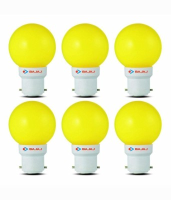Bajaj-0.5W-LED-Bulbs-(Yellow,-Pack-of-6)