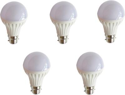 Crown-Original-7-W-LED-Bulb-B22-White-(pack-of-5)