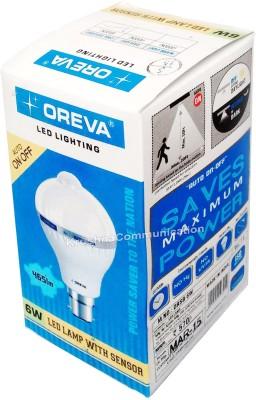 Oreva-6W-Sensor-Auto-On-Off-LED-Bulb-Lamp-(White)