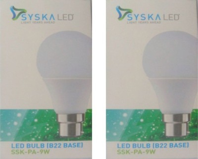 Syska-9W-White-LED-Pa-Bulbs-(Pack-Of-2)