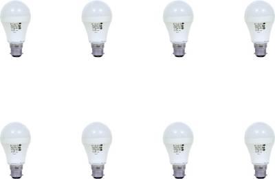 9W-Aluminium-Body-White-LED-Bulb-(Pack-of-8)