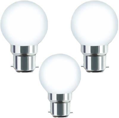 0.5W-B22-Warm-White-LED-Bulb-(Plastic,-Pack-of-3)