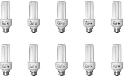 Zora 9 W CFL Bulb (White, Pack of 10) Image