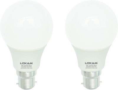 Loxam-9W-B22-LED-Bulbs-(Cool-White,-Pack-of-2)