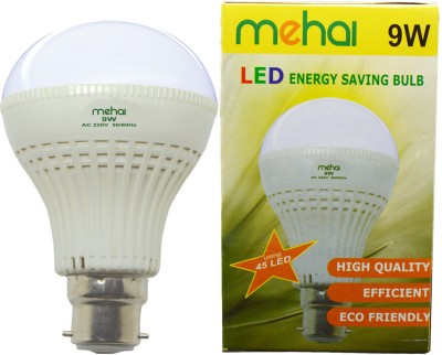 Mehai-Super-Bright-9W-LED-Bulb-(White,-Pack-of-6)