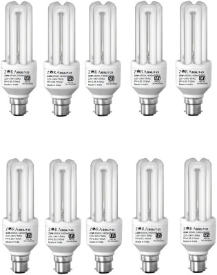 Zora 23 W B22 CFL Bulb(White, Pack of 10)  available at flipkart for Rs.1535