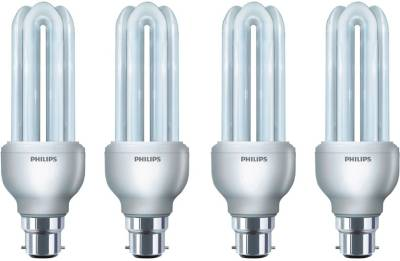 Philips 18 W CFL Bulb (White, Pack Of 4) Image