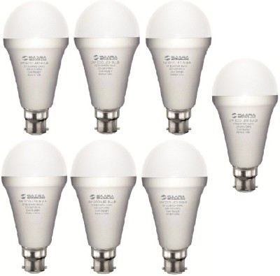 Saara-5-W-11027-LED-ECO-Spiral-Bulb-B22-Cool-White-(pack-of-7)