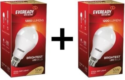 Eveready 12 W Standard B22 LED Bulb White, Pack of 2 Eveready Bulbs