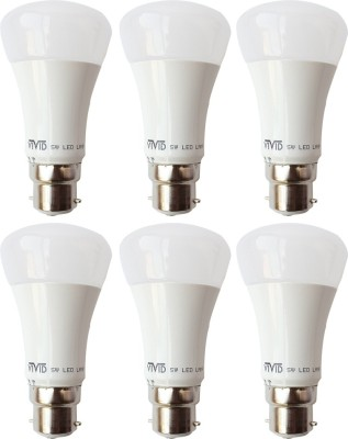 Vivid-5W-B22-LED-Bulb-(White,-Set-of-6)