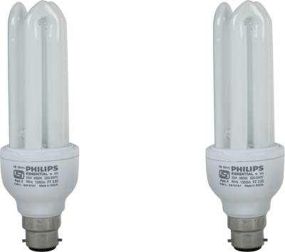Philips Essential 8 Watt CFL Bulb (Cool Day Light,Pack of 2) Image