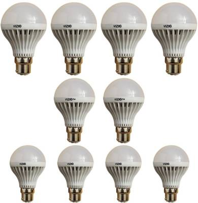 5-W-B22-White-LED-Bulb-(Plastic,-Pack-of-10)