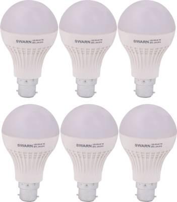 Swarn-7W-B22-600L-LED-Bulb-(White,-Pack-Of-6)