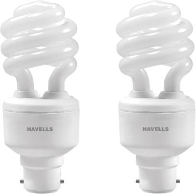 Havells Spiral Shape T3 B-22 15W CFL Bulb (Cool Day Light, Pack of 2) Image
