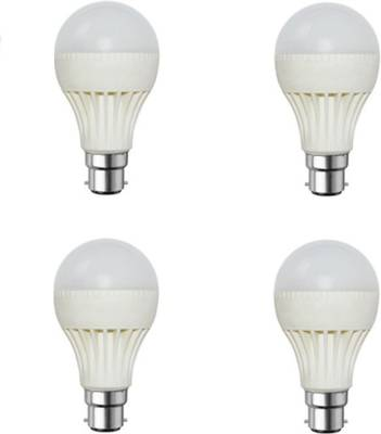 9W-B22-White-LED-Bulb-(Plastic,-Pack-of-4)