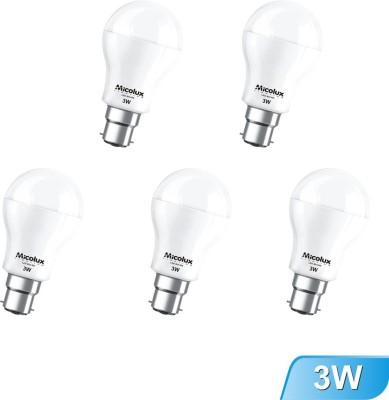 Micolux-Lighting-3W-B22-White-Led-Bulb-(Set-Of-5)
