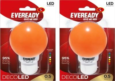 Eveready-0.5W-Deco-UP-LED-Bulb-(Orange,-Pack-of-2)