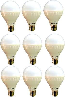 7W-B22-LED-Bulb-(White)-[Pack-of-9]