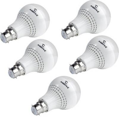 Aaditya-7W-LED-Bulb-(White,-Pack-of-5)
