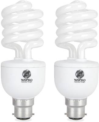Wipro Twister Duos 23 Watt CFL Bulb (Cool Day Light,Pack of 2) Image