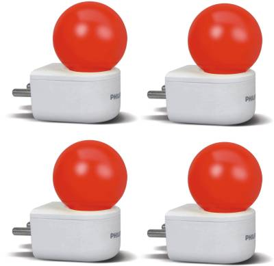 0.5W-Joyvision-Plug-N-Play-LED-Bulb-(Red,-Pack-of-4)
