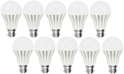Gold-3W-Plastic-Body-Warm-White-LED-Bulb-(Pack-Of-10)