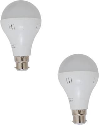 7W-B22-White-LED-Bulb-(Plastic,-Pack-of-2)