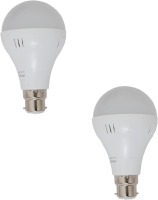 7W-B22-White-LED-Bulb-(Plastic,-Pack-of-2)