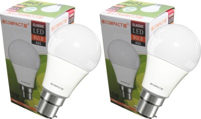 Compact-10-W-B22-LED-Bulb-(Cool-White,-Pack-of-2)