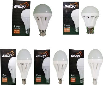 15W,-12W,-9W,-7W,-5W-B22-LED-Bulb-(White,-Combo-Of-5)