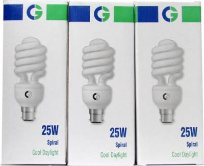 Crompton Greaves Spiral 25 Watt CFL Bulb (Cool Day Light,Pack of 3) Image