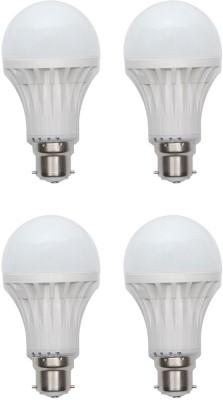 Harit-Energy-7W-B22-LED-Bulb-(White,-Set-of-4)